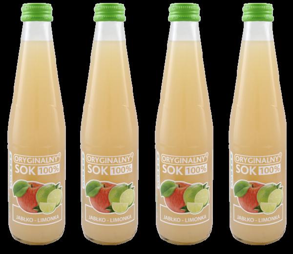 soki 300 ml jabłko limonka