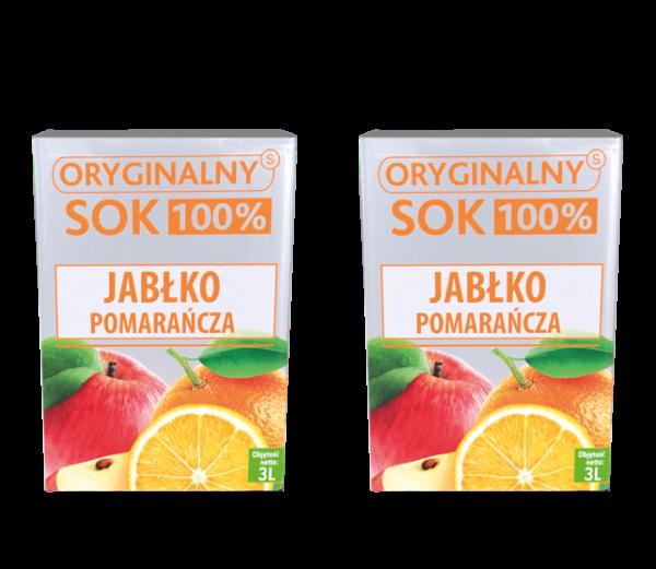 sok jabłko pomarańcza 3l